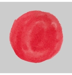 Red paint circle vector image