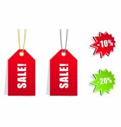 sales stickers vector image vector image