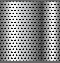 seamless chrome grid metal background vector image