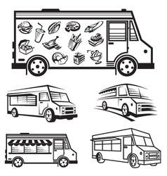 food truck icon designs vector image vector image