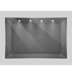 Glass empty show window of shop vector image vector image