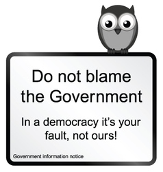Government Blame vector image vector image