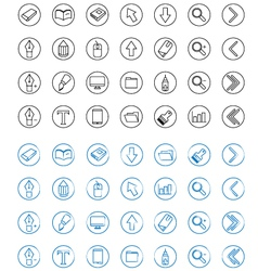 Icon Line Style vector image vector image