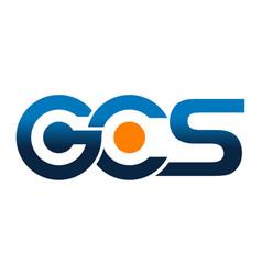 modern logo solution letter g c s vector image