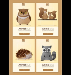 Set of Wild animal templates for web design 3 vector image vector image