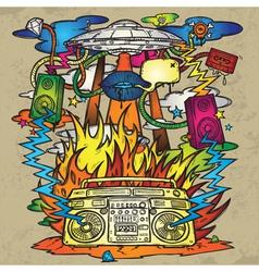 stylish grunge background vector image