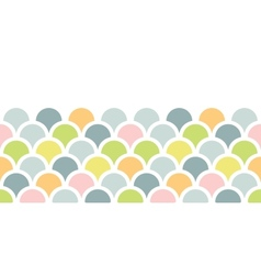 Abstract colorful fishscale horizontal seamless vector