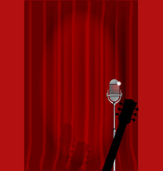 acoustic night vector image