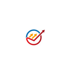 Arrow progress business logo vector