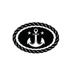 Black vintage sailor badge white background logo vector