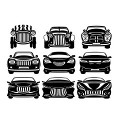 car set on white background vector image