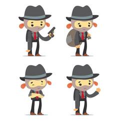 cartoon gangsters vector image