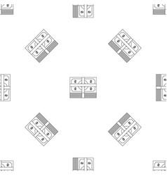 cash pattern seamless vector image