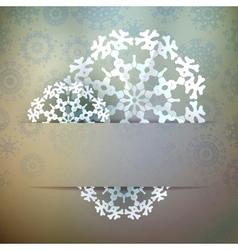 Christmas snowflake applique EPS10 vector image
