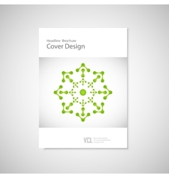 Classic brochure A4 with abstract figures Modern vector