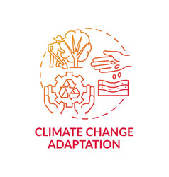 Climate change adaptation concept icon vector