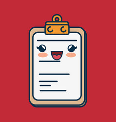 Clipboard paper character handmade drawn vector