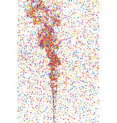 Colorful explosion of confetti vector