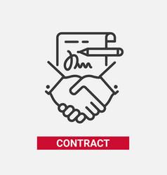 contract - modern line design single icon vector image