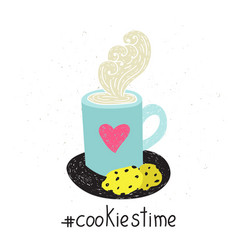 cookies time vector image