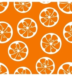 Cute seamless pattern with orange slices vector image