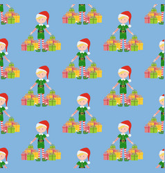 elf seamless pattern vector image