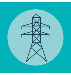 Energy tower and ecology concept design vector