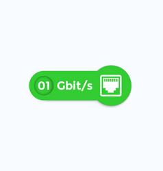 ethernet socket label vector image