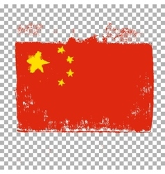 Flag of China on an empty background vector