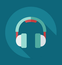 Flat modern design with shadow icons headphones vector