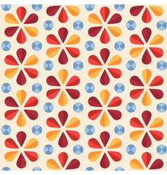 floral seamless pattern origami style vector image