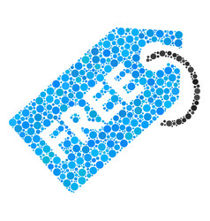 Free tag collage of dots vector