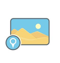 Geolocatin image location photo picture pin icon vector