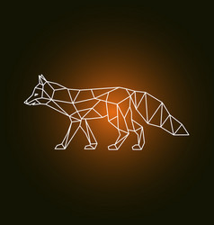 geometric form of a fox vector image