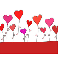 greeting card for st valentine day with red vector image