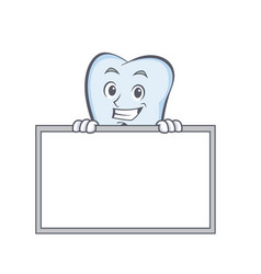 Grinning with board tooth character cartoon style vector