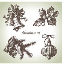 Hand drawn christmas set vector