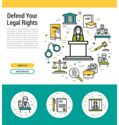 header template - legal issues vector image