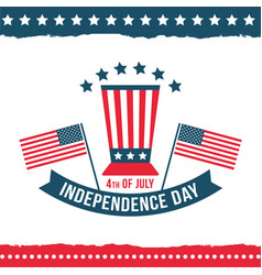 Independence day of the united states poster set vector