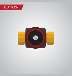 isolated faucet flat icon tap element can vector image