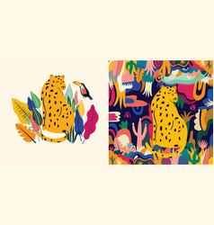 leopards vector image