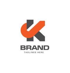 letter k logo concept vector image