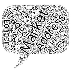 London s Markets text background wordcloud concept vector image