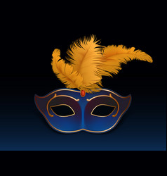 mardi gras carnival face mask realistic vector image