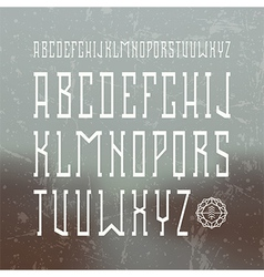Medium serif font in retro style vector