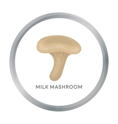 Milk mushroom icon in cartoon style isolated on vector image