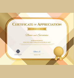 Modern certificate of appreciation template with vector