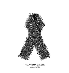 Modern melanoma cancer awareness circles vector