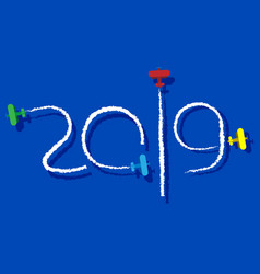 New year 2019 concept vector