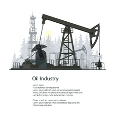 Oil Industry Poster Brochure Design vector image